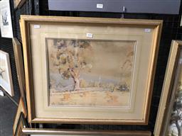 Sale 9172 - Lot 2039 - Carlyle Jackson  Countryscape watercolour, frame: 52 x 60 cm, signed lower left
