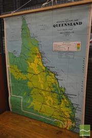 Sale 8260 - Lot 1081 - Chas. H. Scally & Co. Vintage School Map of Queensland