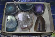 Sale 8284 - Lot 1052 - 6 Agate Display Pieces