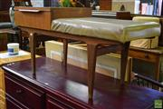 Sale 8566 - Lot 1522 - Retro Telephone Table with Upholstered Seat & Single Drawer