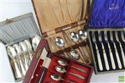 Sale 8599 - Lot 75 - Collection Of Silverplated Cutlery Sets (4)