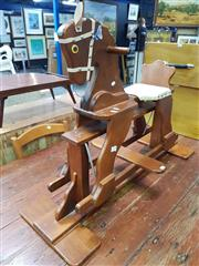 Sale 8672 - Lot 1045 - Timber Rocking Horse