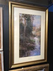 Sale 8824 - Lot 2046 - After Frederick McCubbin - Midsummers Eve ed. 2/1500, 115 x 75cm (frame), signed by John McCubbin -