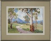 Sale 8936 - Lot 2034 - John W. Roach On the Road to the Valley, Near Yea watercolour, 26 x 36cm, signed lower right -