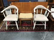 Sale 8942 - Lot 1045 - Pair of Painted Wishbone Chairs (BH: 78cm)