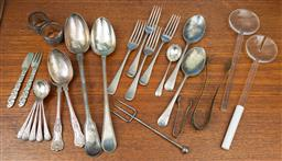 Sale 9164H - Lot 75 - A quantity of tablewares including silver plated spoons.