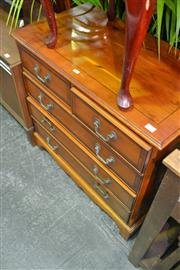 Sale 7987A - Lot 1320 - Georgian Style Yewood & Inlaid Five Drawer Chest