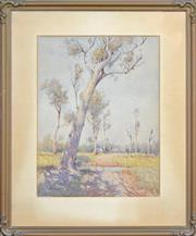 Sale 8162A - Lot 593 - William Lister Lister (1859 - 1943) - The Leaning Gum 62 x 45cm