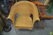 Sale 8299 - Lot 1075 - Cane Armchair