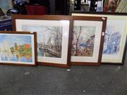 Sale 8441T - Lot 2077 - Collection of Framed Prints of French Scenes