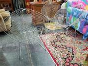 Sale 8566 - Lot 1177 - Set of Three Bertoia Metal Chairs