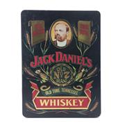 Sale 8588 - Lot 744 - 1x Jack Daniels 'Old No.7' Tennessee Whiskey - in limited edition tin canister w 2 glasses