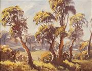 Sale 8631 - Lot 2011 - R. Parsons - Sunlit Valley, Oberon 19 x 24cm