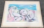 Sale 9036 - Lot 2080 - Graham Borough Sydney Summer lithograph ED. 43/250, frame: 81 x 98 x 2 cm), signed lower right -