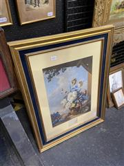 Sale 9045 - Lot 2048 - George Baxter The Gardiners Shed (After V. Bartholomew) oil print (AF) , 63 x 48cm (frame) Printed 1856. David Jones Gallery labe...