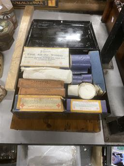 Sale 9106 - Lot 2473 - Woods Emergency First Aid Case by Johnson & Johnson with First Aid Contents