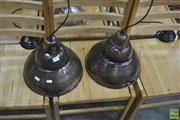 Sale 8257 - Lot 1086 - Pair of Pendent Light Fittings