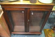 Sale 8299 - Lot 1045 - Raised Maple Display Cabinet