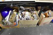 Sale 8405 - Lot 2248 - 3 Boxes of Sundries & Home Wares incl. Ceramics
