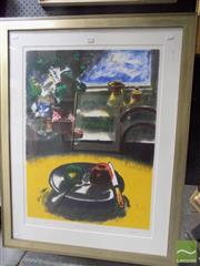 Sale 8513 - Lot 2035 - Fred Cress - Apple and Plate, 1989 76 x 56.5cm (frame size: 106 x 82.5cm)