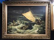 Sale 8816 - Lot 2006 - Artist Unknown - Stormy Sea, acrylic on canvas, frame size : 93 x 120cm