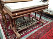 Sale 8831 - Lot 1075 - Cedar Side Table with Marble Top