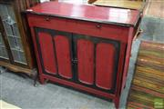 Sale 8542 - Lot 1079 - French Pine Two Door Server
