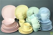 Sale 8608 - Lot 31 - Pastel Ceramic Bowls, Plates, Tea Cups And Saucers (Mainly Johnson Of Australia)