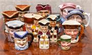 Sale 8649A - Lot 43 - A collection of miniature Toby jugs including Mini Philpot
