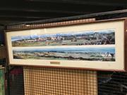 Sale 8659 - Lot 2155 - Framed Panoramic Photos of St Andrews, Scotland Golf Course (1 item)