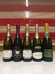 Sale 8677B - Lot 956 - Five bottles of various sparkling wines including a Taltarni 1998, Brown brothers Sienna rosso etc