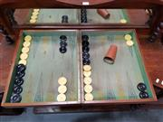 Sale 8697 - Lot 1050 - Vintage Cased Backgammon Game