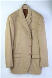 Sale 8770F - Lot 24 - A Burberry, London camel hair three-button blazer jacket with notch lapel, size 54