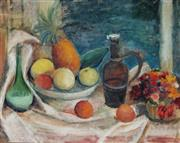 Sale 8947A - Lot 5083 - Artist Unknown (C20th) - Still Life with Fruit and Flowers 57.5 x 73 cm (frame: 69 x 85 x 5 cm)