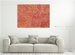 Sale 9171A - Lot 5030 - POLLY NGALE (c1936 - ) Bush Plum acrylic on canvas 200 x 146 cm (stretched and ready to hang) signed verso; certificate of authentic...