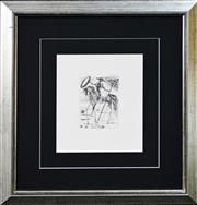 Sale 8068A - Lot 82 - Salvador Dali (1904 - 1989) After. - Don Quixote (Five Spanish Immortals) 17 x 12cm