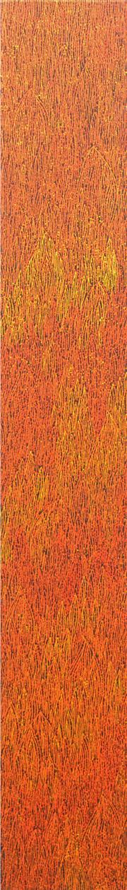 Sale 8226A - Lot 535 - Sarrita King (1988 - ) - Fire 150 x 21cm (framed & ready to hang)