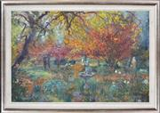 Sale 8374 - Lot 588 - Robert Pengilley (1944 - ) - Autumn Mist, Michelago 66.5 x 101.5cm