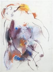 Sale 8410A - Lot 5046 - Anne Hall (1945 - ) - Untitled (Abstract Nude Reclining) 76.5 x 56cm (sheet size)