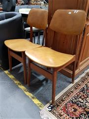 Sale 8676 - Lot 1091 - Pair of Vinyl Upholstered Dining Chairs