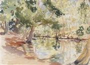 Sale 8730 - Lot 2016 - William Torrance (1912 - 1988) - Creek with Reflections 16.5 x 21cm