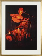 Sale 8753 - Lot 2038 - Paul Melchert - David Bowie at Student Refectory, Central London Polytechnic (from RocknRoll series 41.5 x 29.5cm