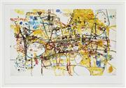 Sale 8741A - Lot 13 - John Olsen (1928 - ) - People who live on Victoria Street 55 x 82cm