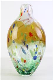Sale 8926 - Lot 50 - Large art glass vase with colourful inserts (H39cm)