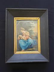Sale 8969 - Lot 2004 - Artist Unknown Madonna and Child watercolour, 32 x 26cm (frame), unsigned -