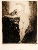 Sale 3847 - Lot 11 - NORMAN LINDSAY (1879 - 1969) - The Butterfly 14.4 x 12 cm