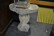 Sale 8031 - Lot 1002 - Concrete Outdoor Pedestal Table