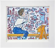 Sale 8282A - Lot 66 - David Bromley (1960 - ) - The Young Boy Artist 21 x 27.5cm