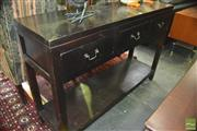 Sale 8326 - Lot 1368 - Timber Three Drawer Hall Table