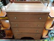 Sale 8480 - Lot 1047 - Timber Chest of Drawers